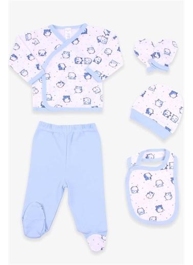 Breeze Erkek Bebek Hastane Çıkışı 5 Li Ayıcıklı Beyaz  Beyaz